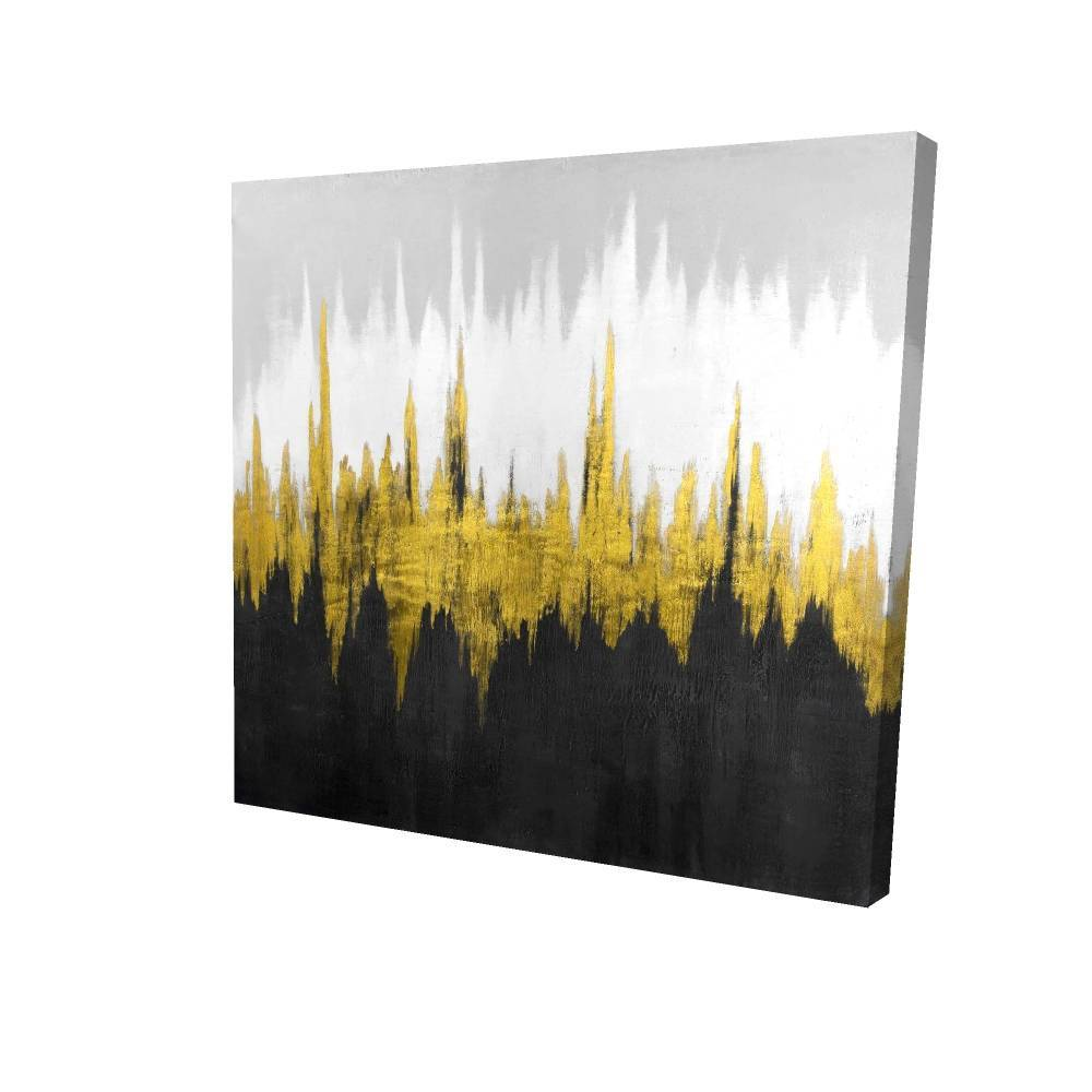 """Golden Zigzag Printed On Canvas, 36"""" x 36"""""""