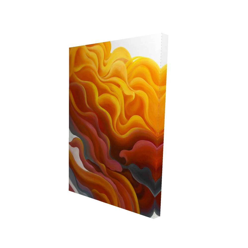 "Colorful Smoke Printed On Canvas, 24"" x 36"""