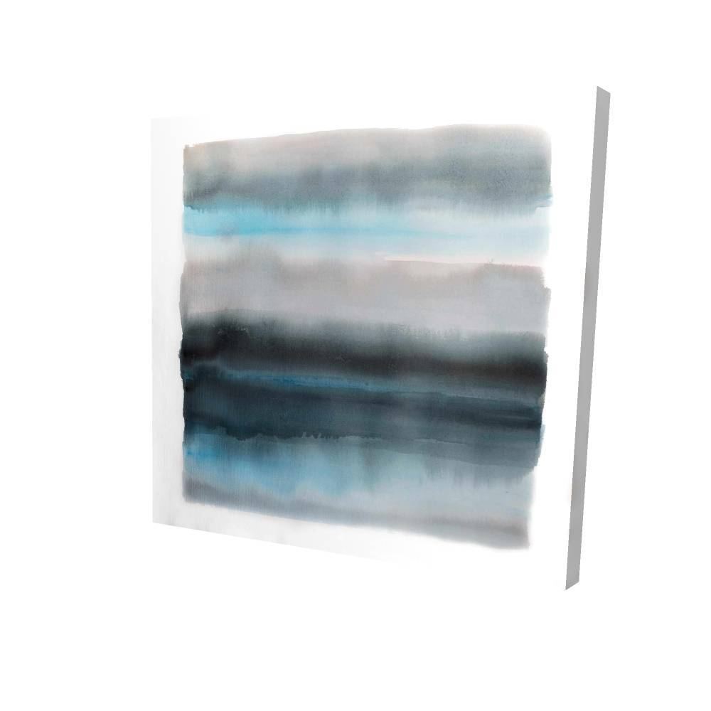 """Shade Of Blue Printed On Canvas, 36"""" x 36"""""""