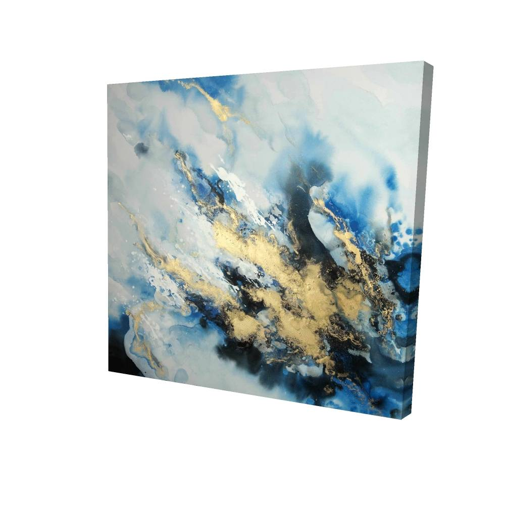 """Blue Marble Printed On Canvas, 24"""" x 24"""""""
