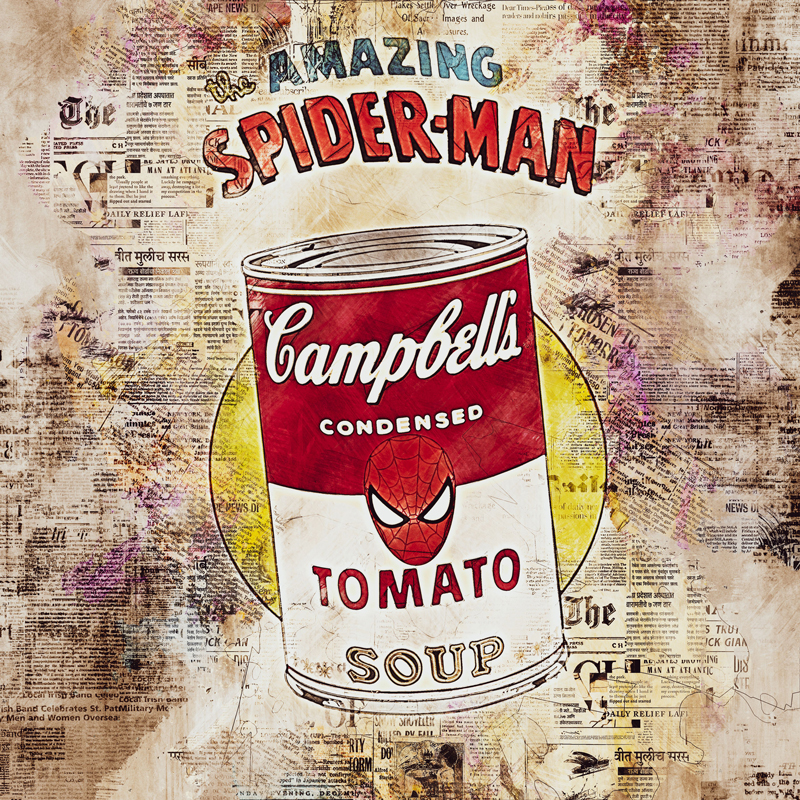 Campbell's soup tomato spider man