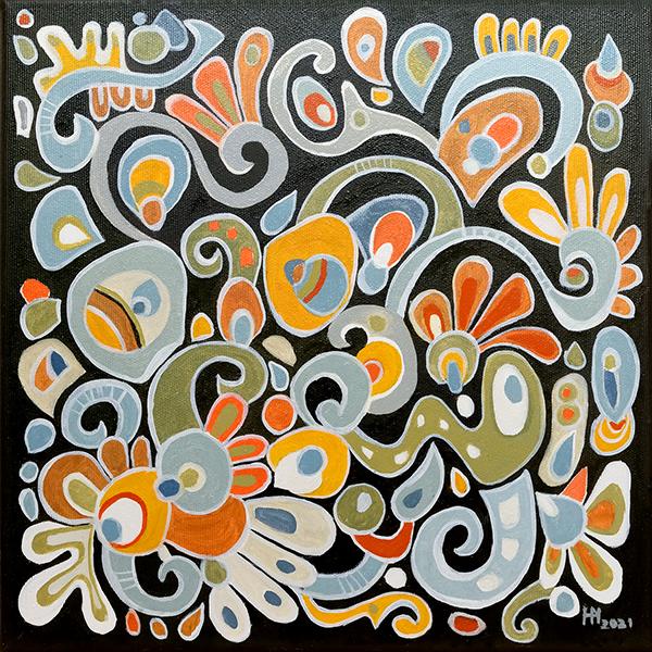 Colorful Curlicues