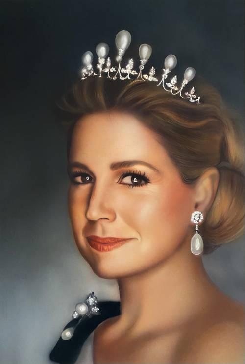 A portrait of a Dutch Queen Maxima
