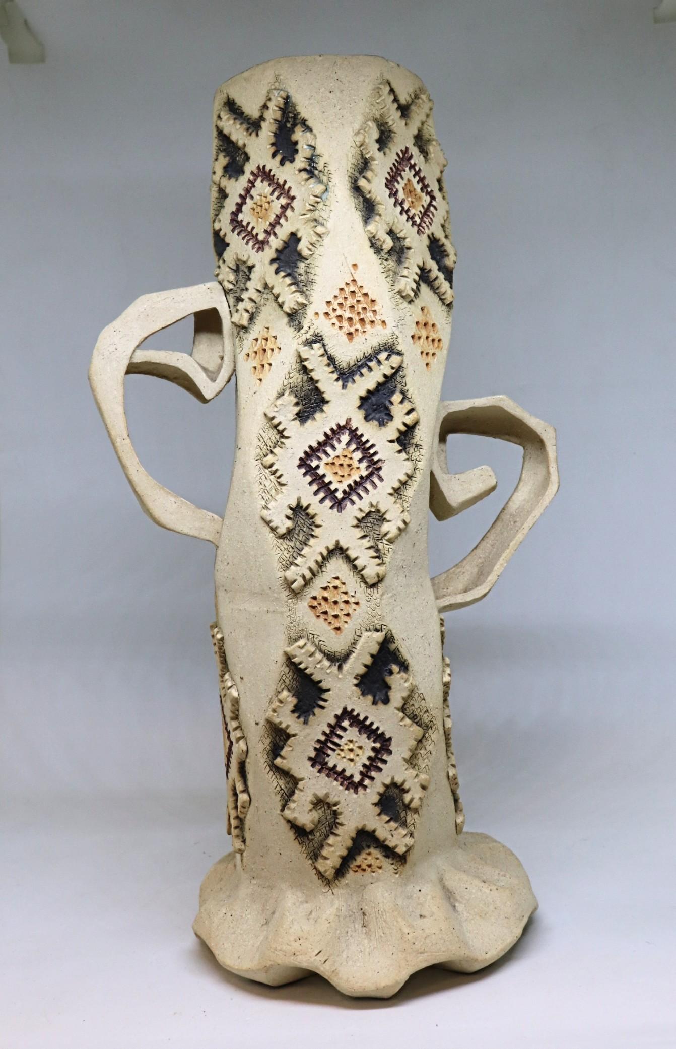 Danser. Ceramic vase.