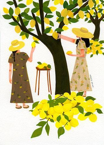 Lemon tree あなたの作品が壁にかかっているイメージ
