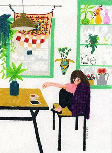 think Bild Ihres Kunstwerks an der Wand