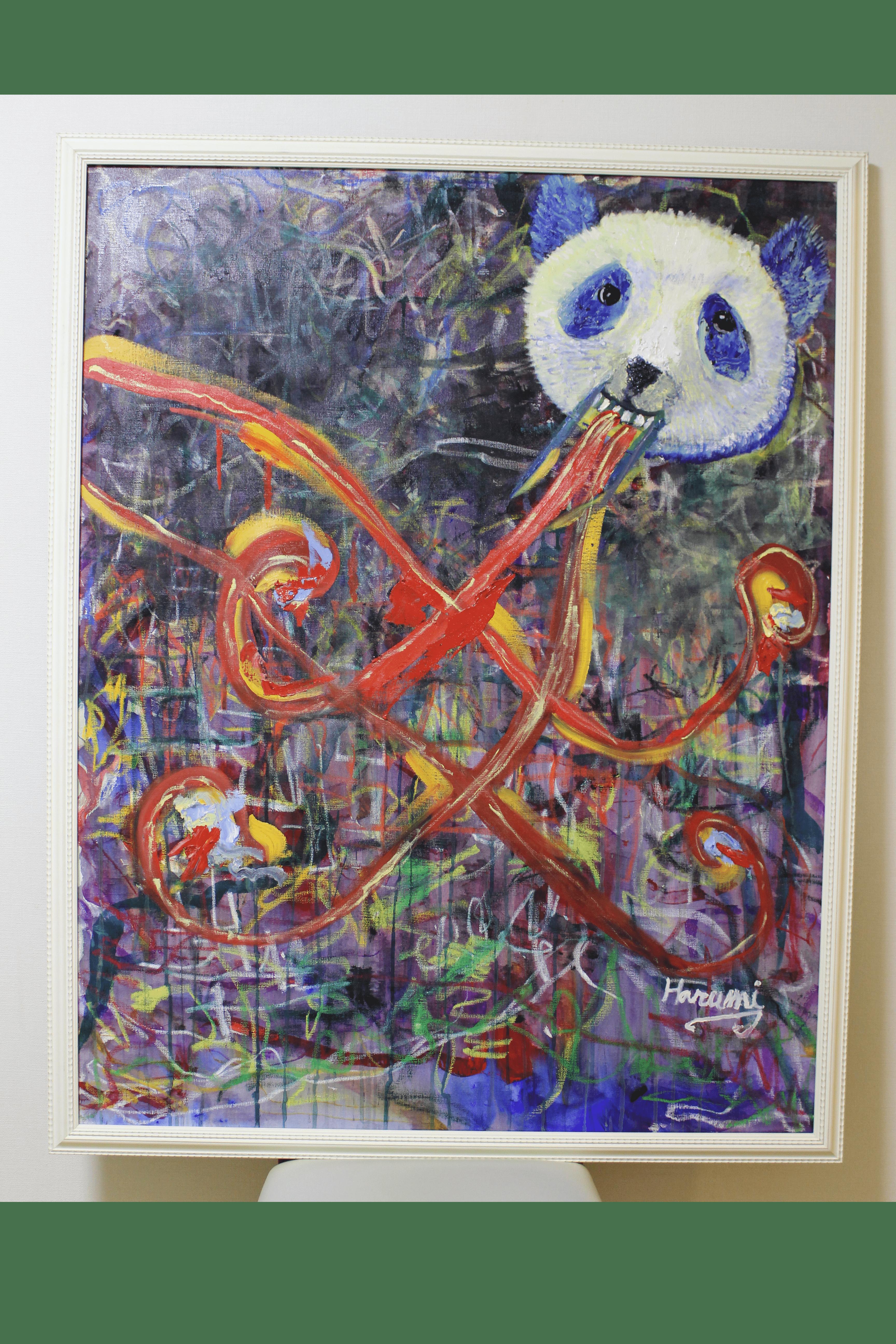 chameleon panda Bild Ihres Kunstwerks an der Wand