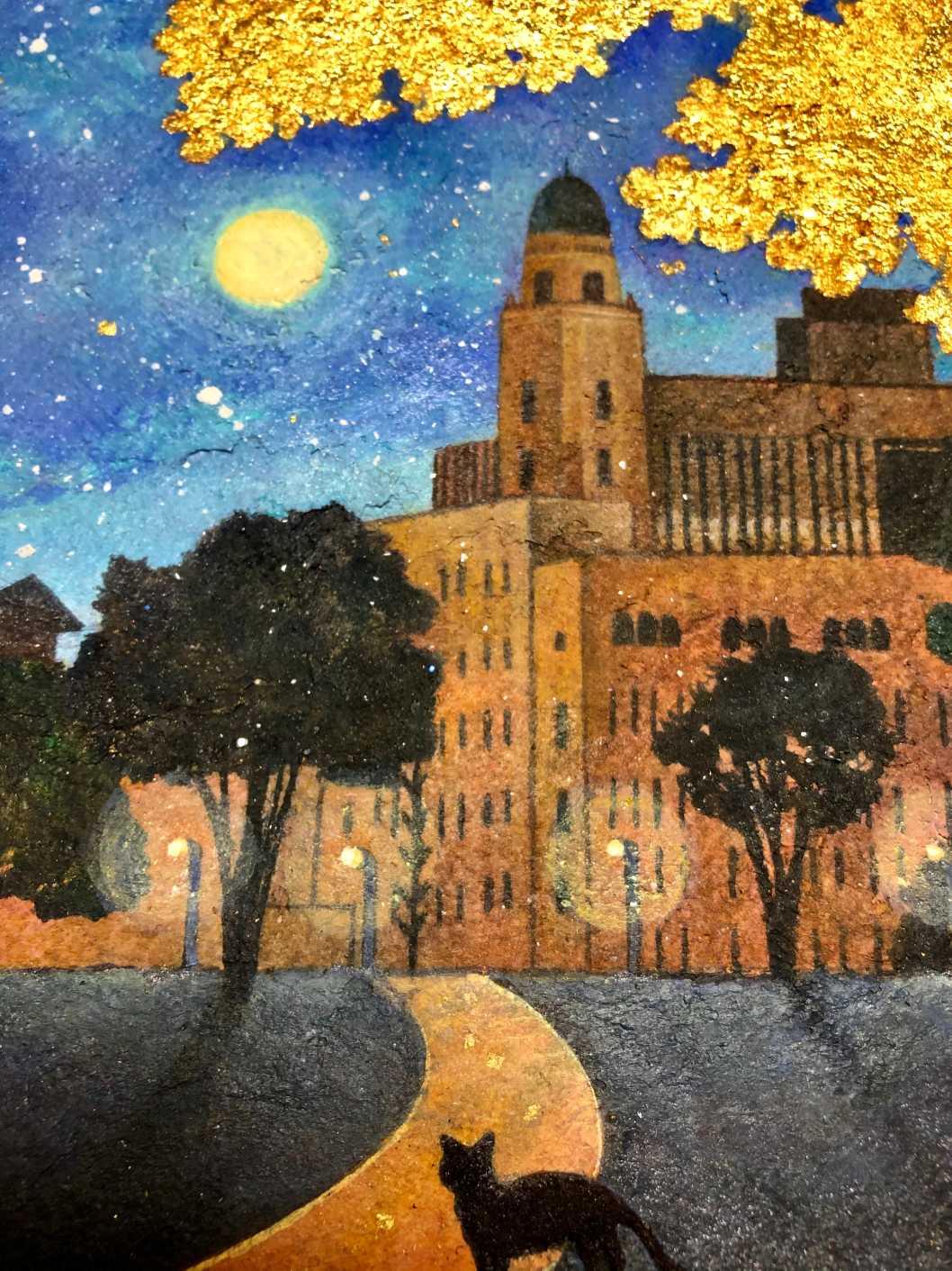 Moonlit Night and Queen Tower