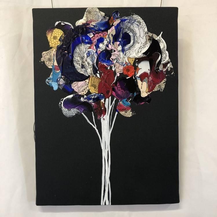 Colourful Flower (Dgray x Blue)
