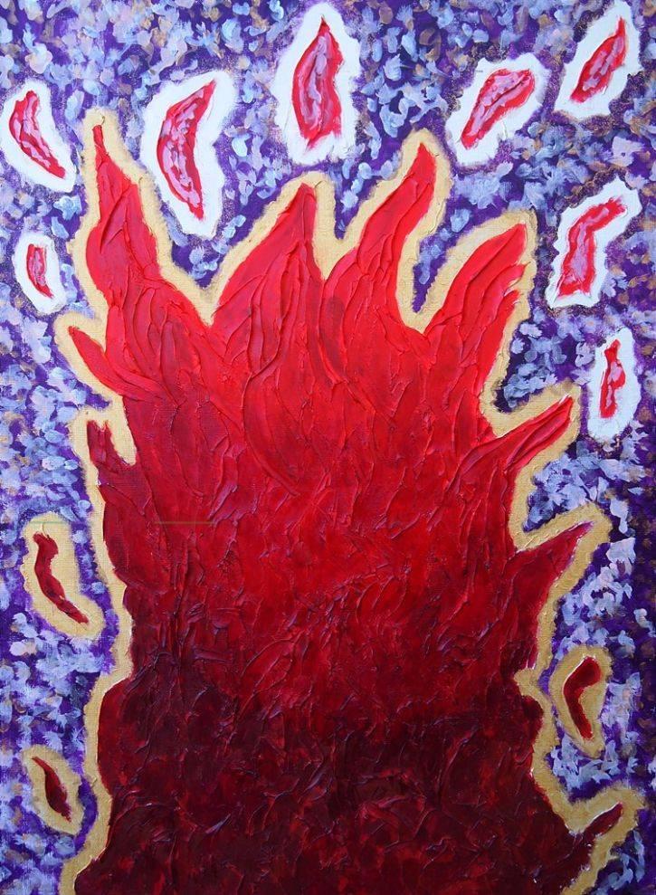 赤い炎 #3 / Red flame #3
