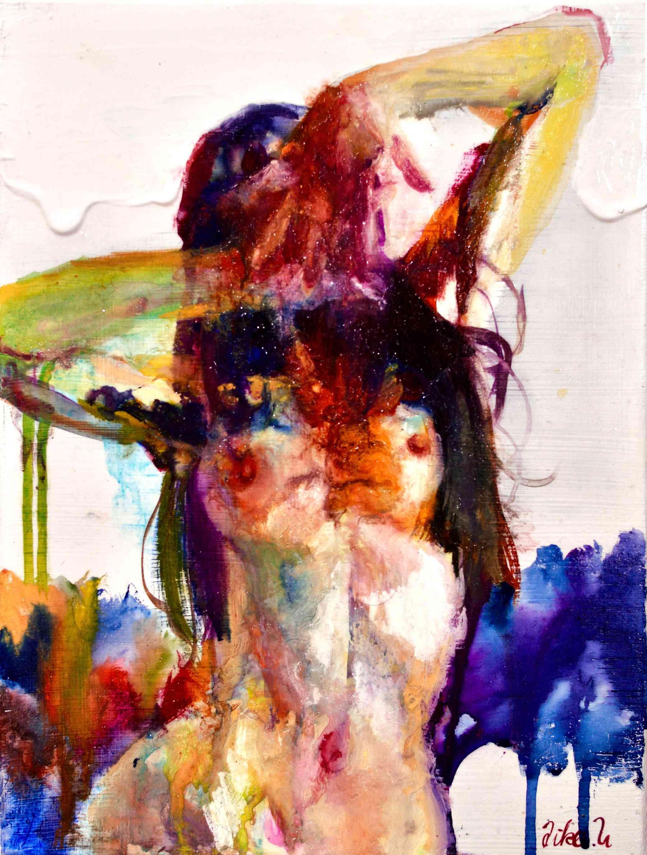 pose Bild Ihres Kunstwerks an der Wand