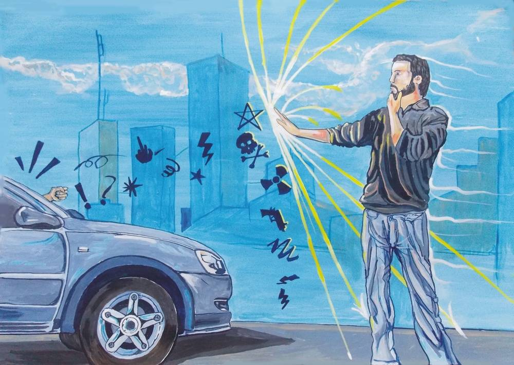 Those Moments Mine, Stopping traffic Randomly Image of your art work hanging on the wall