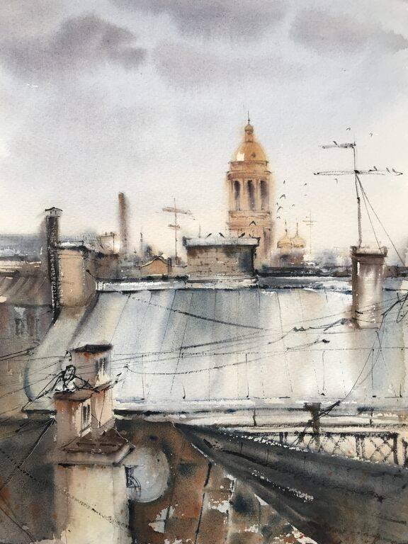 Roofs of St. Petersburg #2 あなたの作品が壁にかかっているイメージ