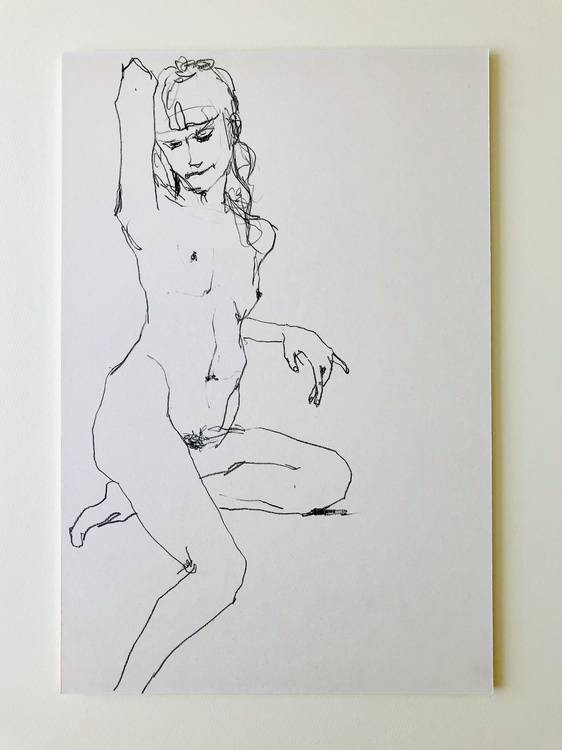 Nude Woman #1 Image of your art work hanging on the wall