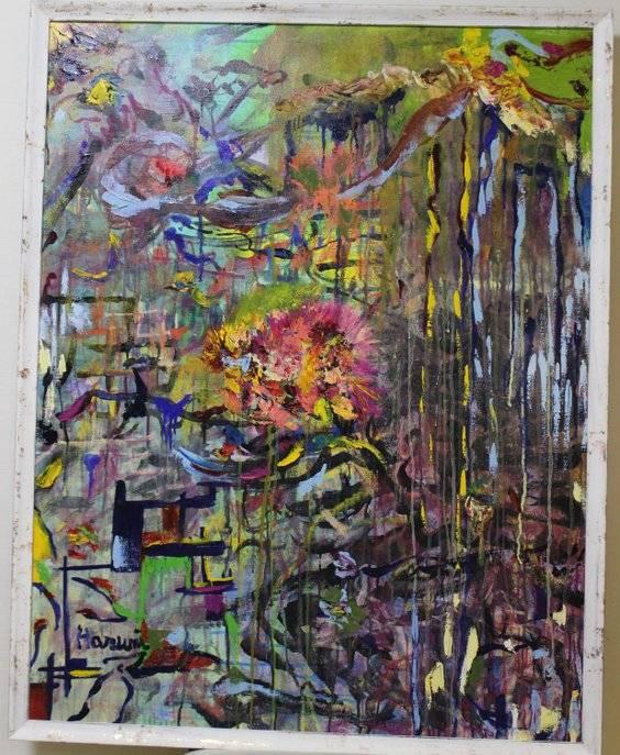 in time with the sound Bild Ihres Kunstwerks an der Wand