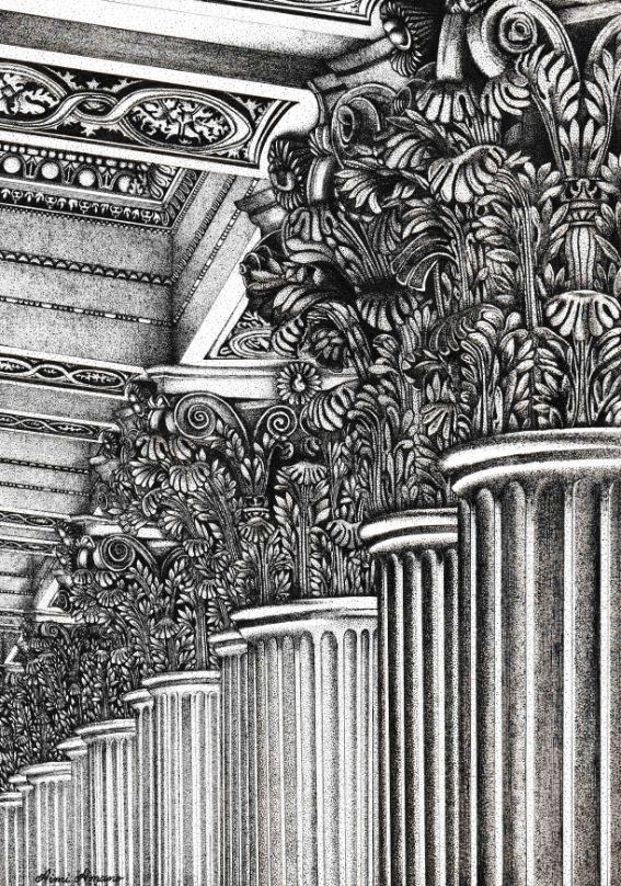 The Colonnade of Louvre あなたの作品が壁にかかっているイメージ