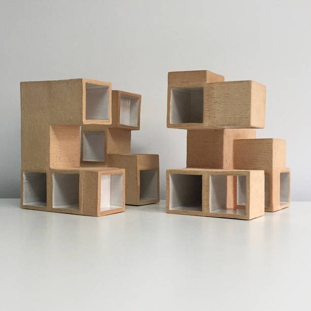 Dwellings #7 (Two pieces)
