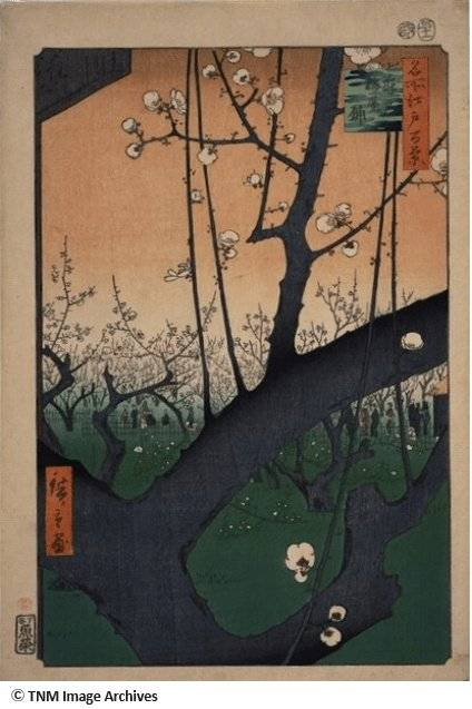 Plum Garden at Kameido, from the Series One Hundred Scenic Spots of Edo.
