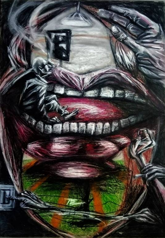 das Refugium あなたの作品が壁にかかっているイメージ