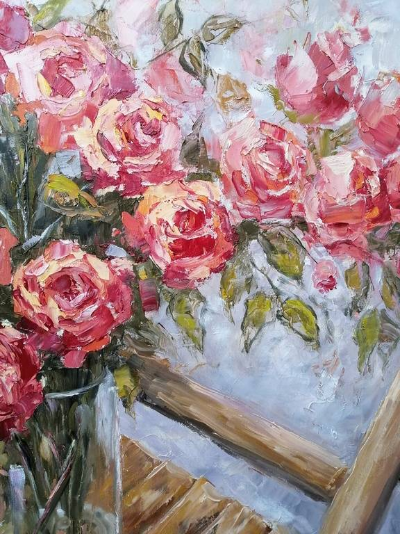 Roses on a chair