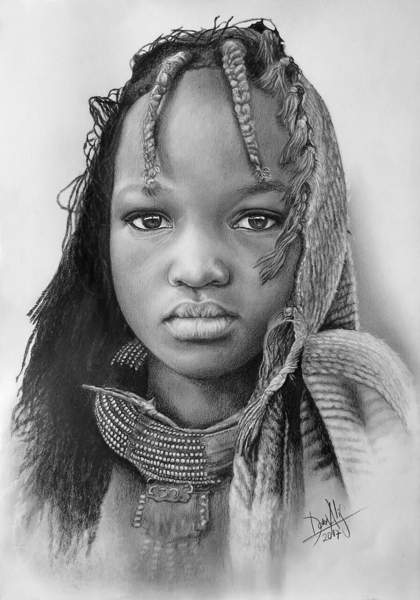African Girl 97 Image of your art work hanging on the wall