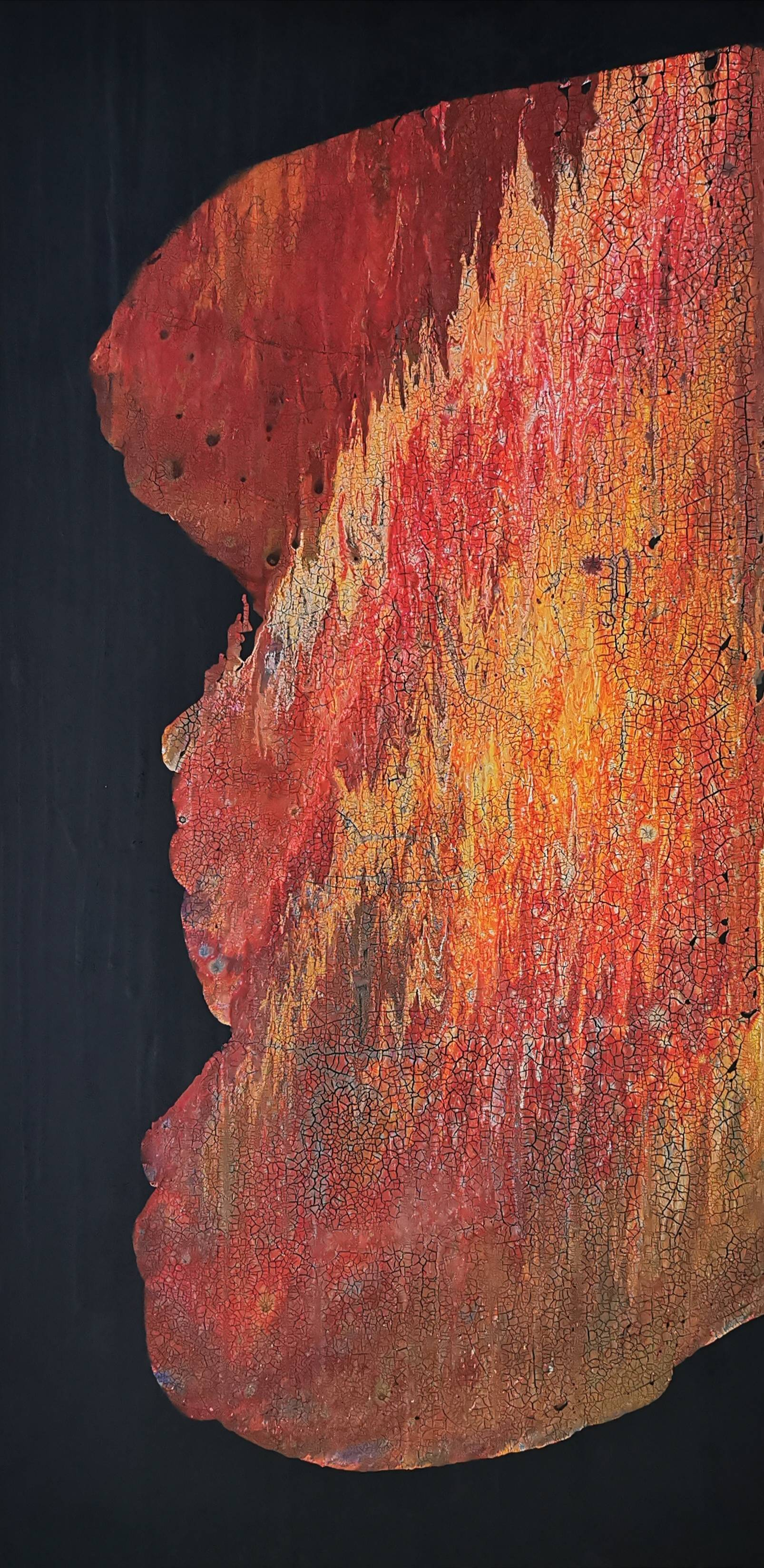 Australian Desert Ground Image of your art work hanging on the wall