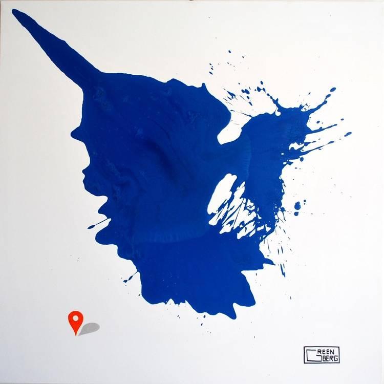 Capsule Blue A1 Bild Ihres Kunstwerks an der Wand