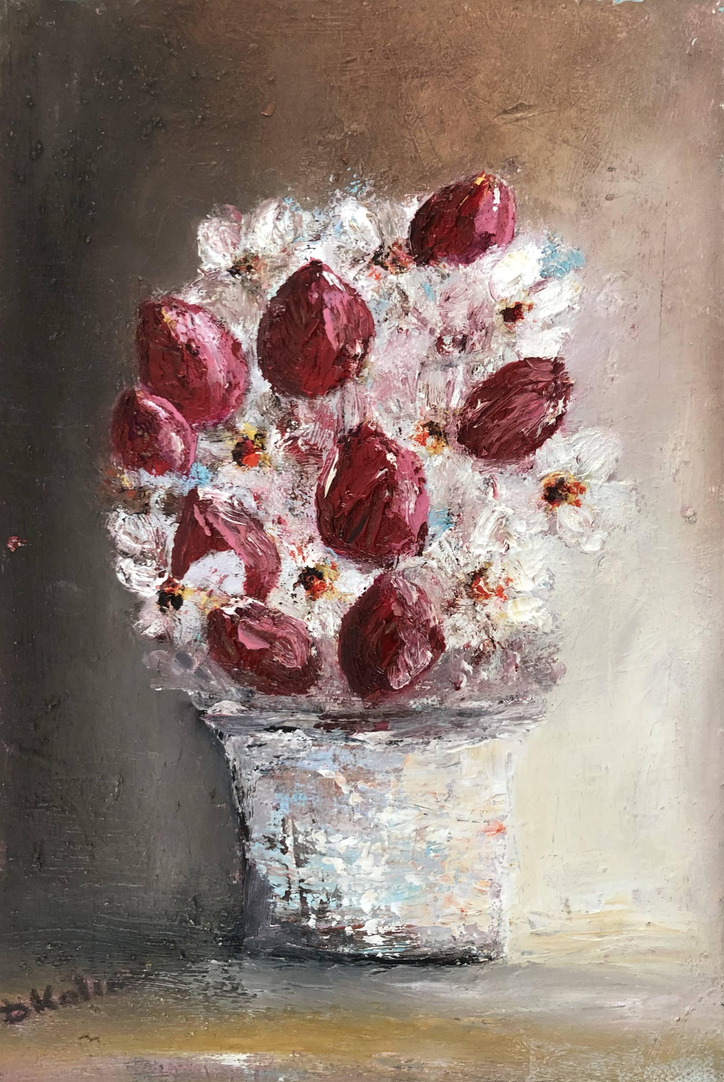 Flowers in a vase Bild Ihres Kunstwerks an der Wand