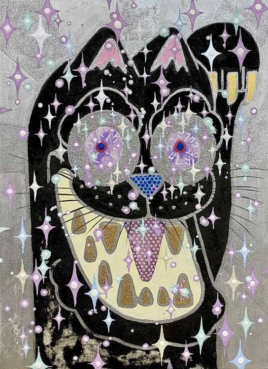 Very, very, very black kitty cat