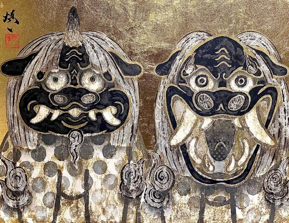 lion and komainu