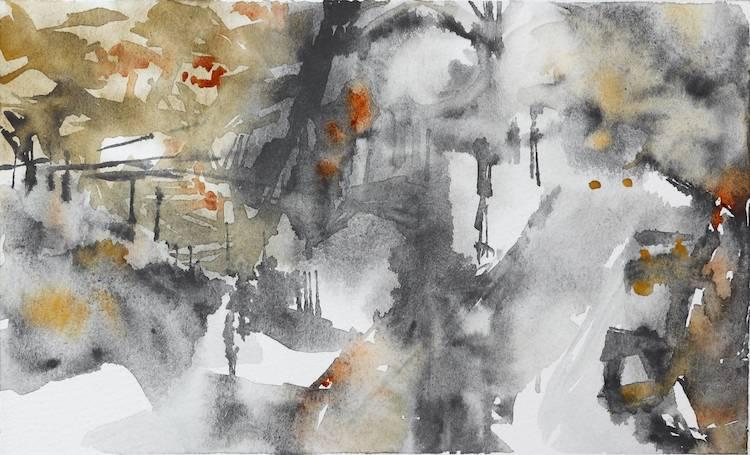 Smoke Image of your art work hanging on the wall