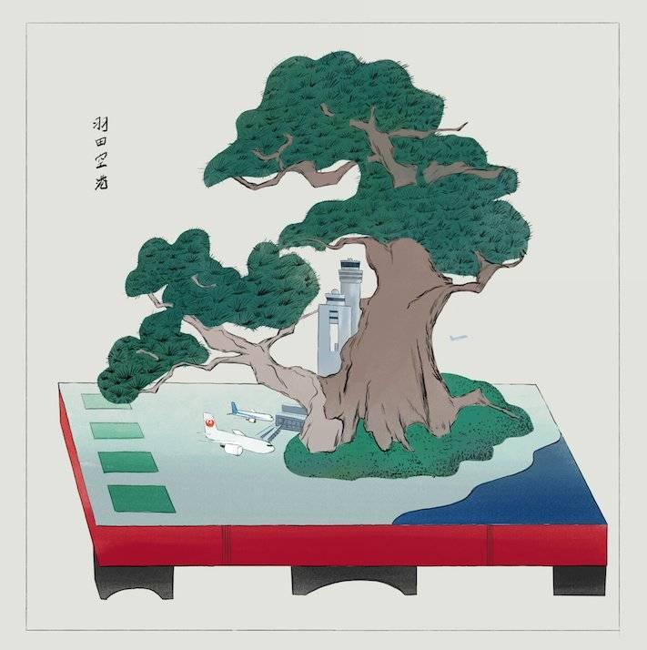 盆景画 都市世界鉢山図絵 / Bonkei-ga