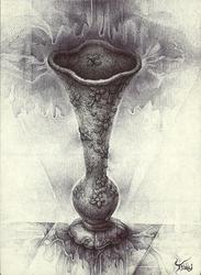 A single-flower vase