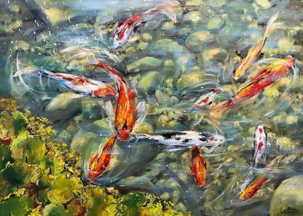 Pond Image of your art work hanging on the wall