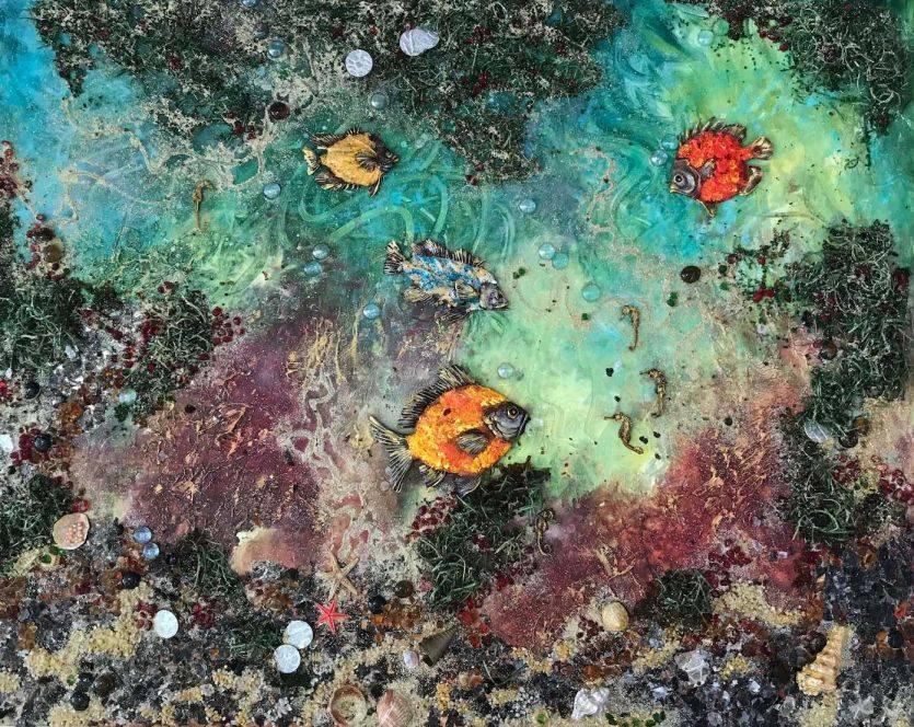 Sea Landscape. Collage