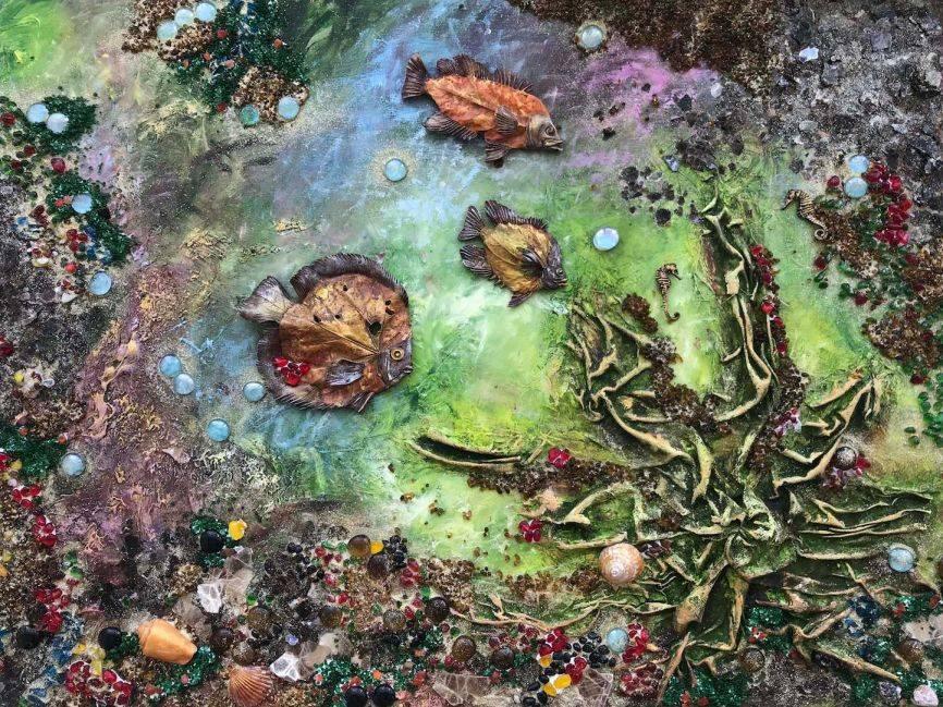 The Sea. Collage