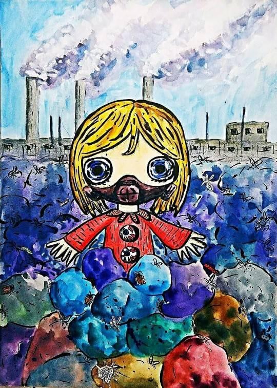 The polluted world. Bild Ihres Kunstwerks an der Wand