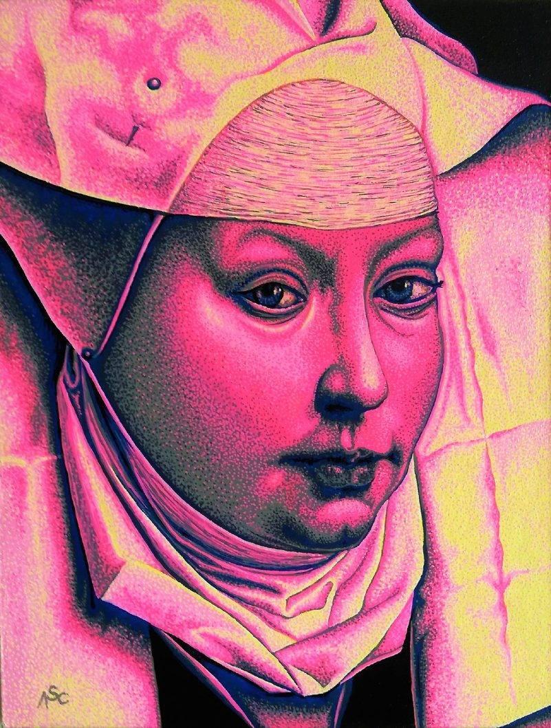 Woman with bonnet (detail)