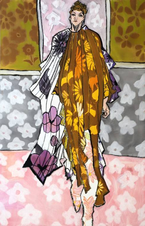 Woman in Floral clothes