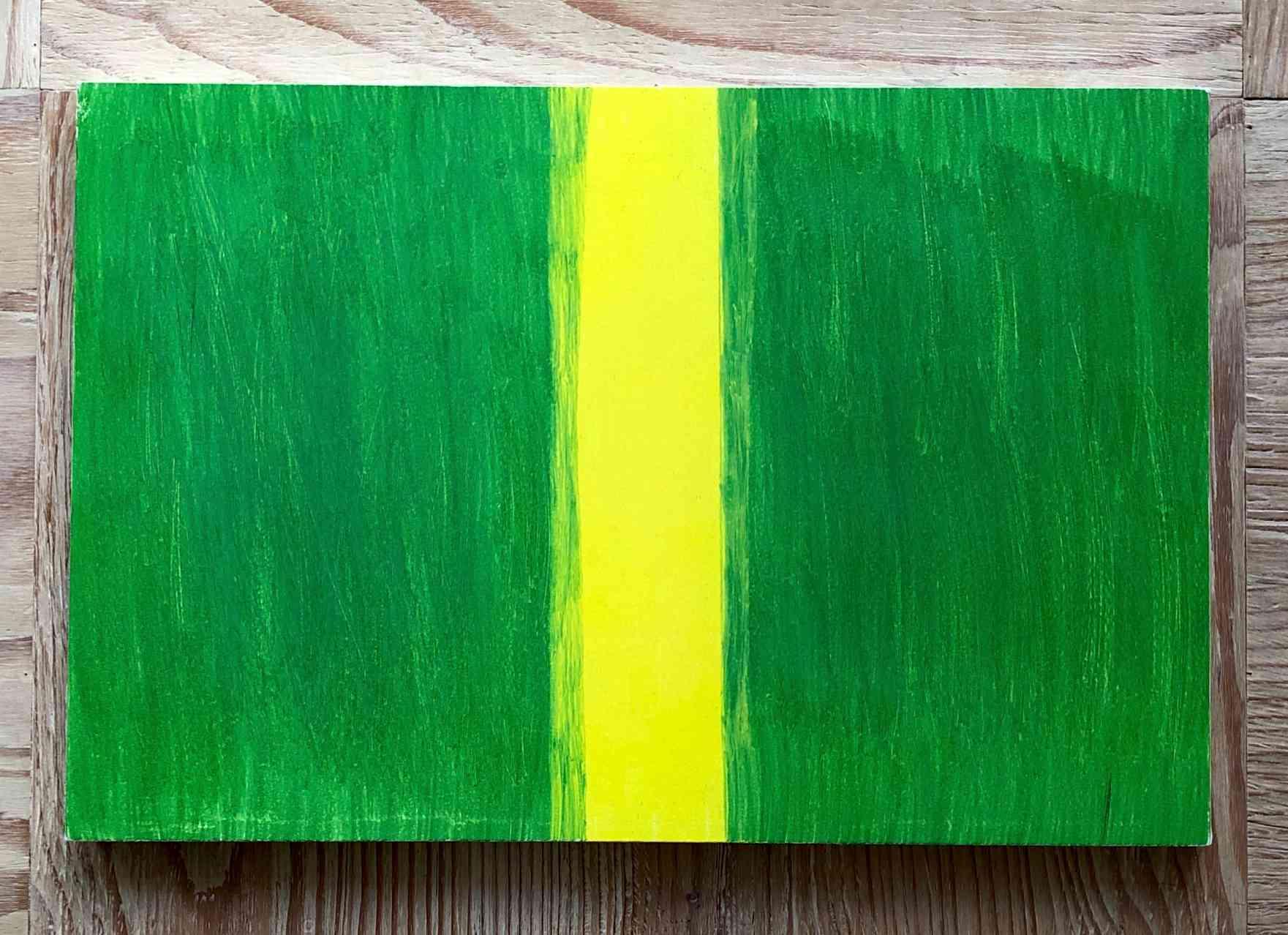 Moss green/Lemon yellow