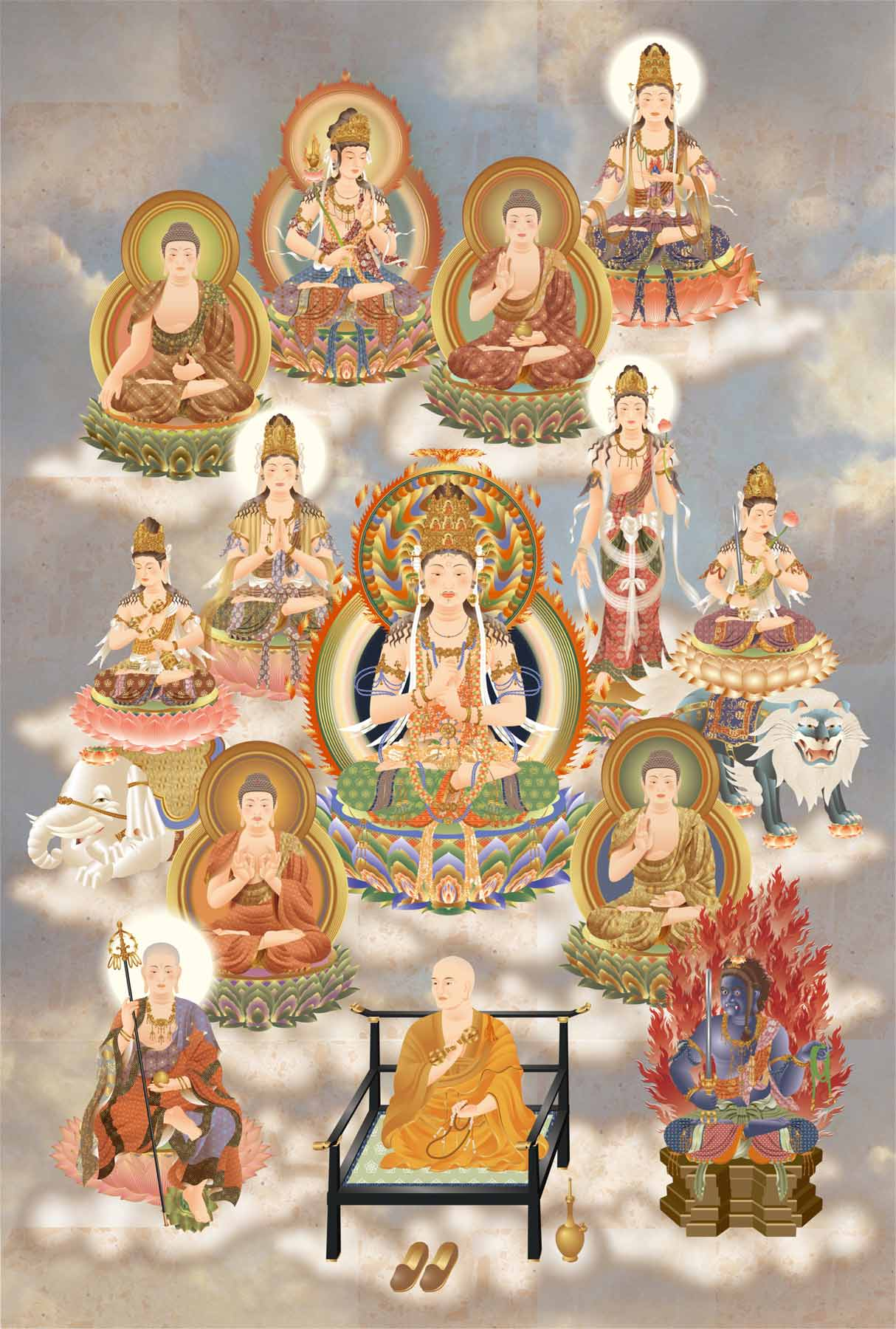Shingon Thirteen Buddha
