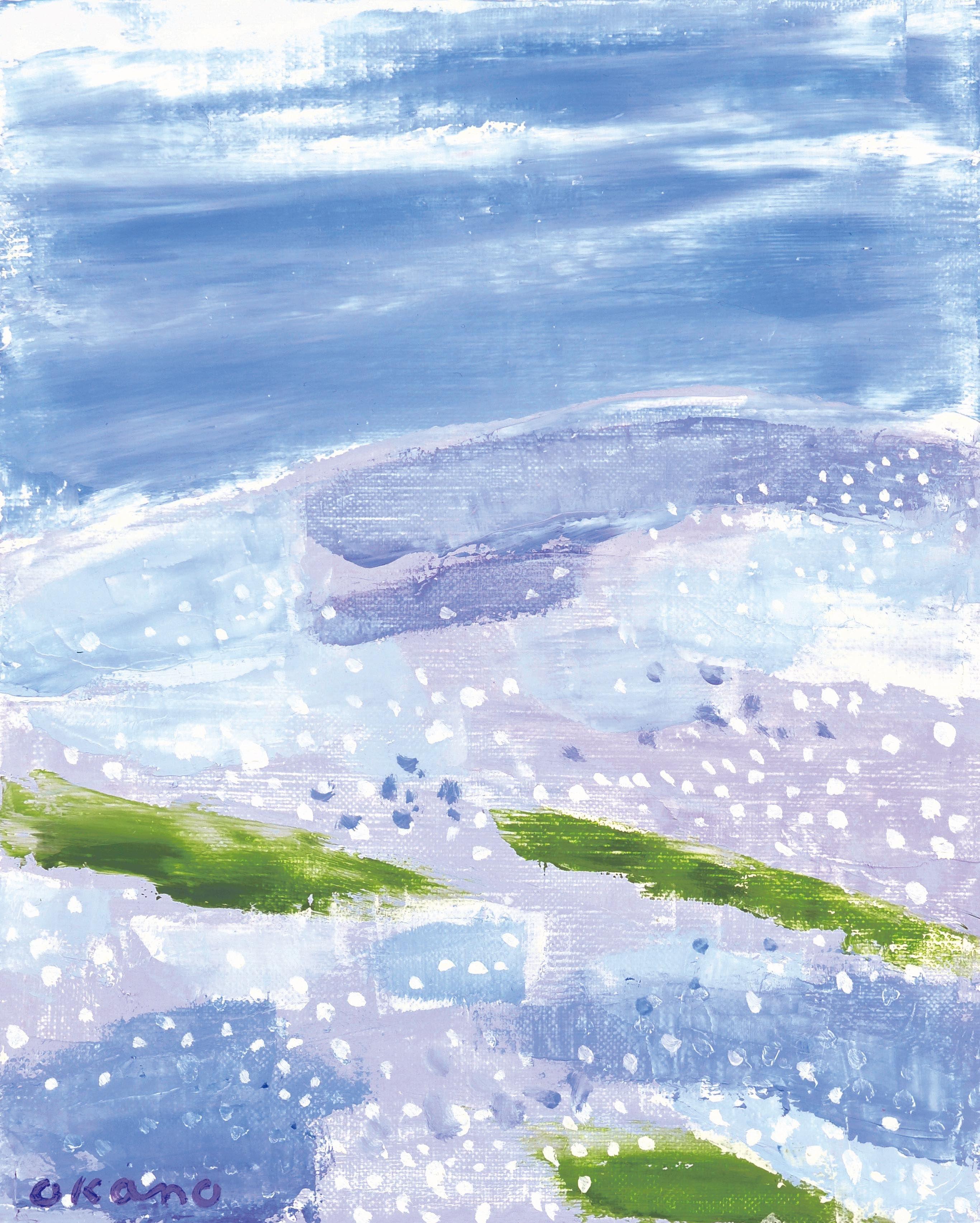 A scenary in lapis lazuli blue.
