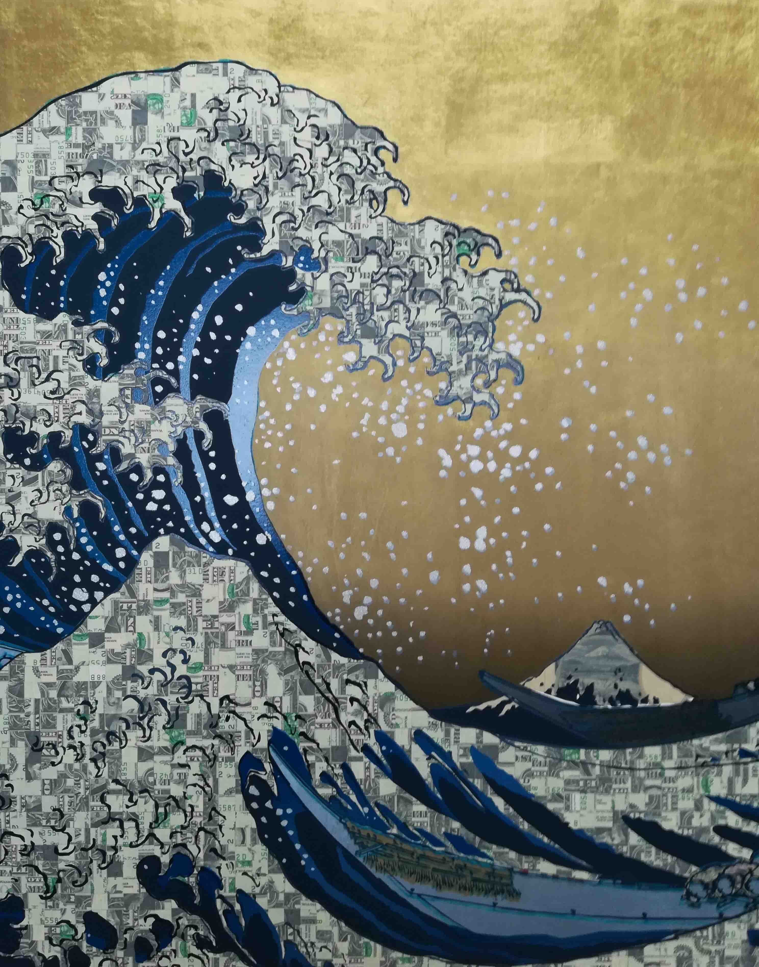 RealcamoAutomaticWAVE Prussianblue Gold sky silver splash $Camouflage