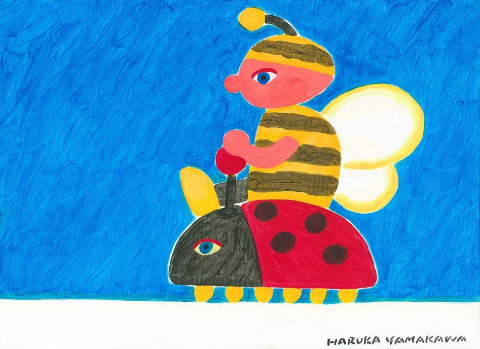 Bee and ladybird Image of your art work hanging on the wall