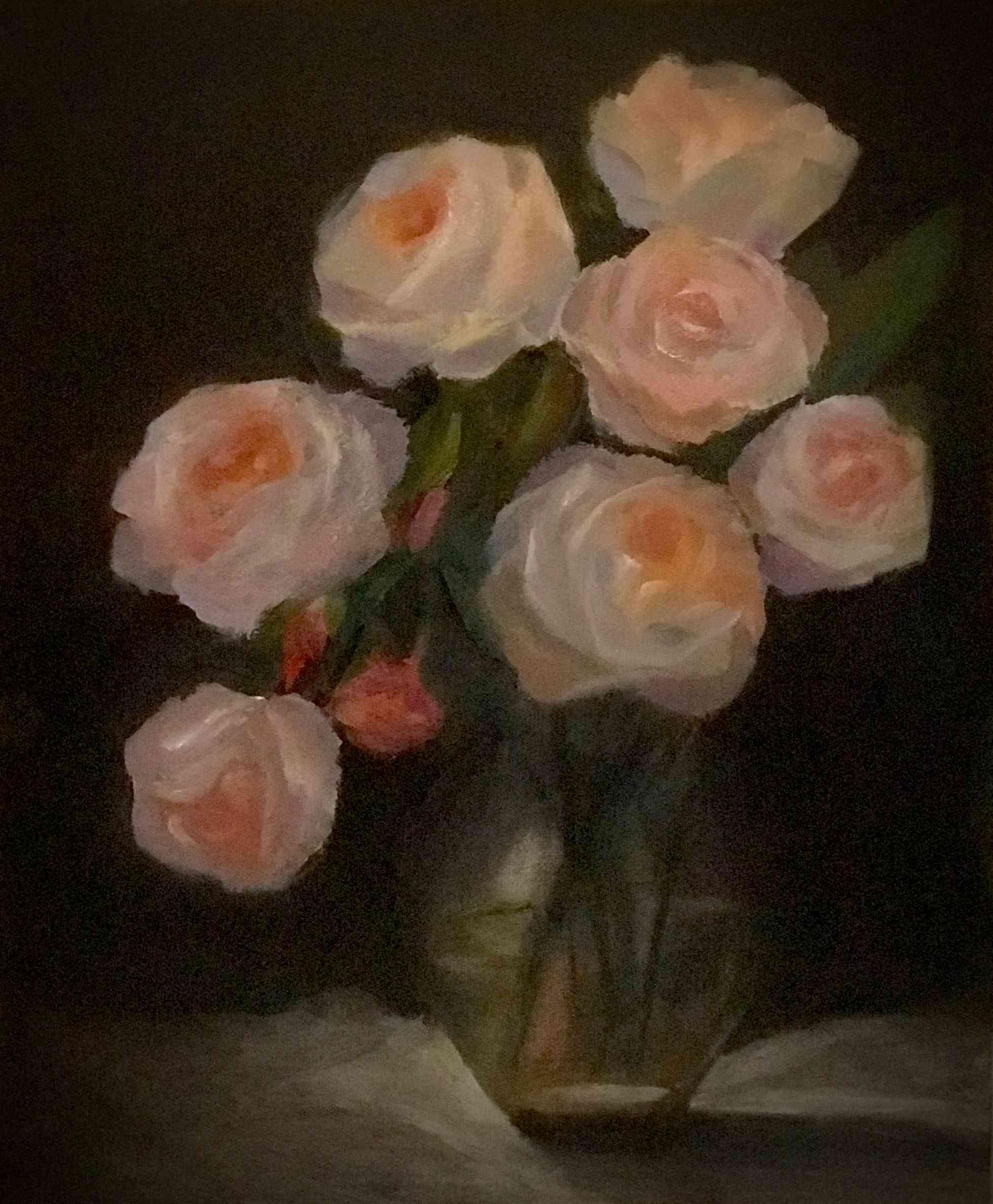 桃薔薇の花束