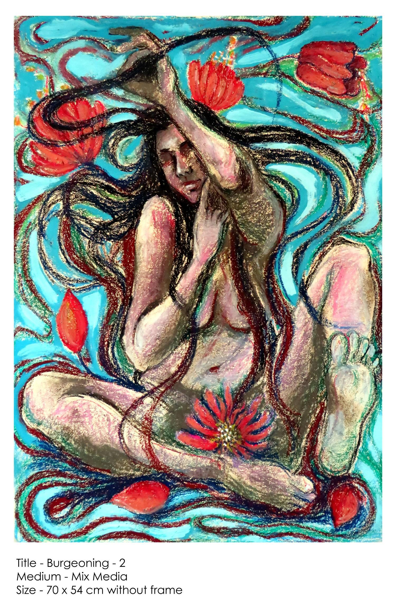 Burgeoning 2 Immagine della tua opera d'arte appesa al muro