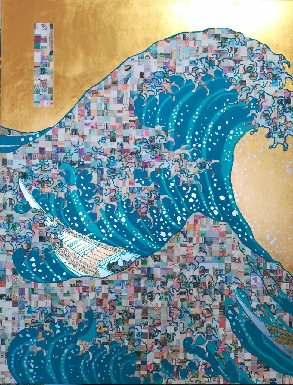 World Automatic Wave ¥GZ212818H Aqua blue