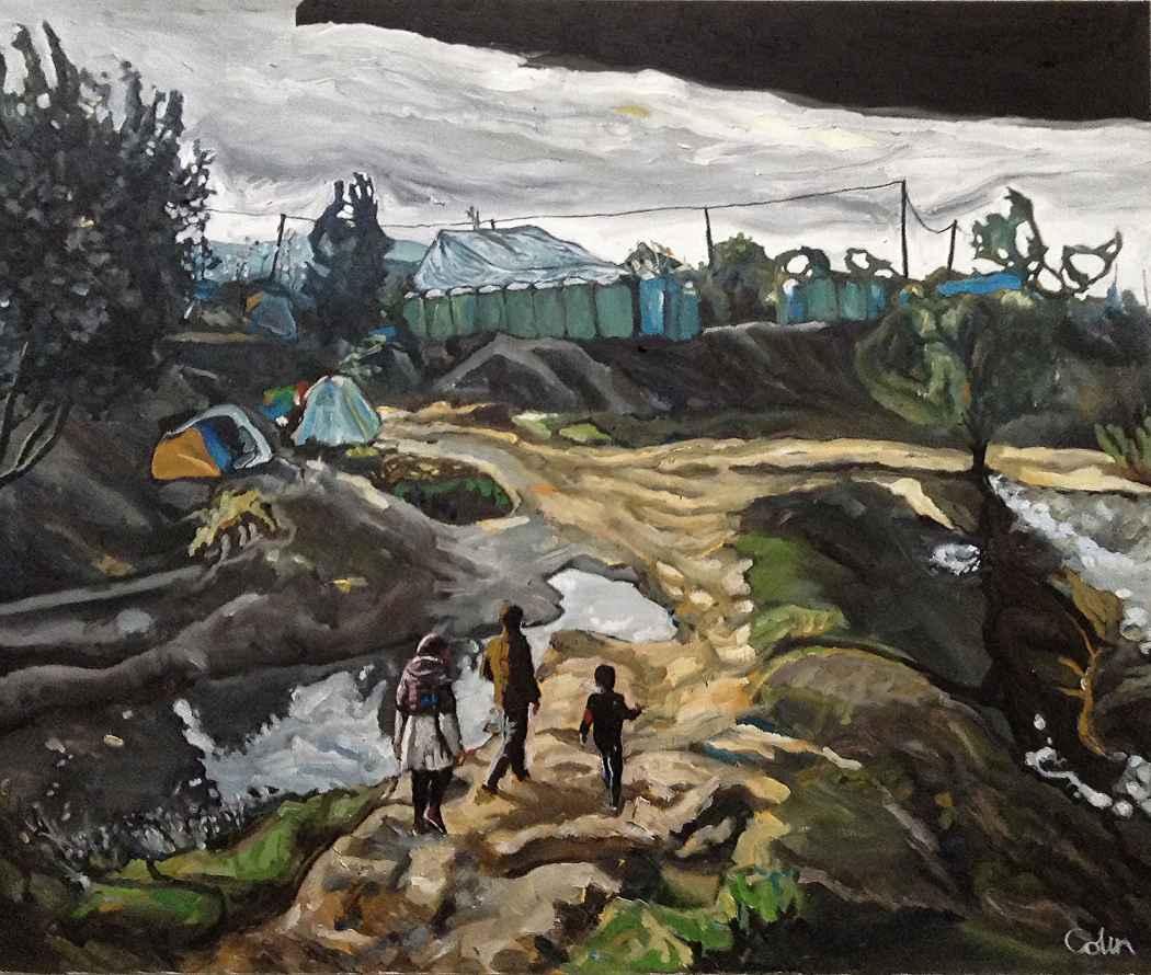 "The Wane: (Idomeni, Greece; ""The Hay Wain"" – John Constable)"