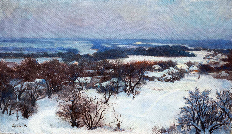 Winter in the village Dybintsy