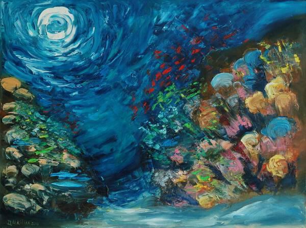 "UNDERWATER PAINTING ""HAPPINES"" (was made underwater)"